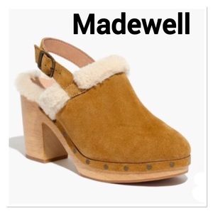 Madewell Lesley Sherpa Lined Suede Clogs